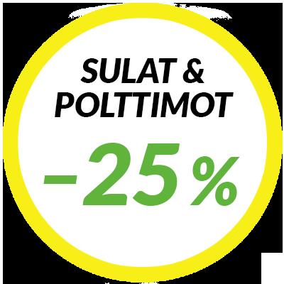 Pyyhkijänsulat ja polttimot –25 %